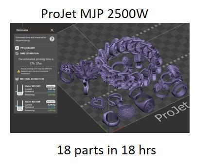 ProJet 2500 WAX multiJet printer