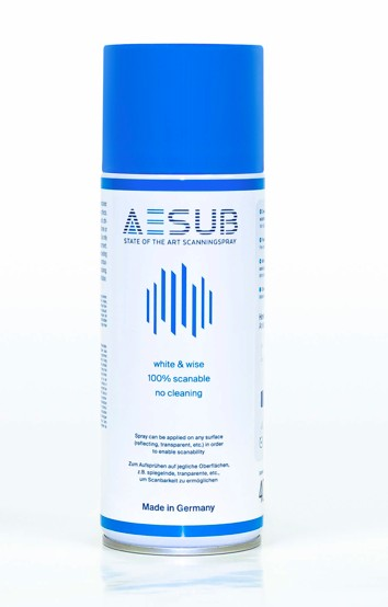 AESUB Blue Sublimating 3D Scanning Spray Can