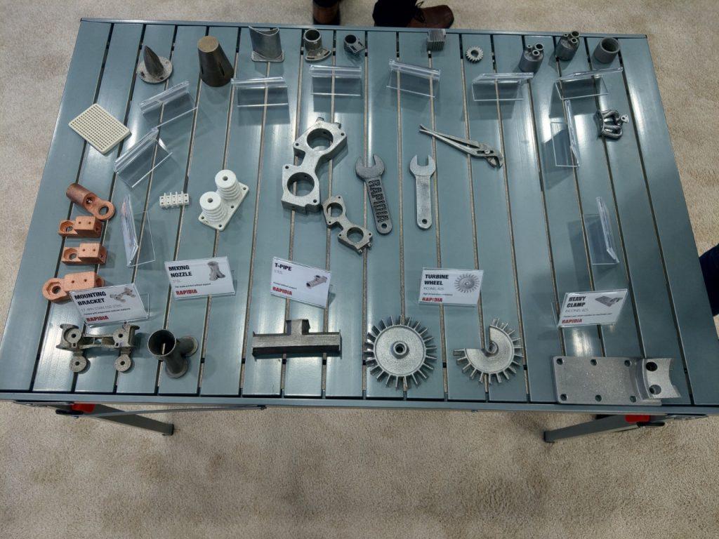Metal 3D printer parts by Rapidia