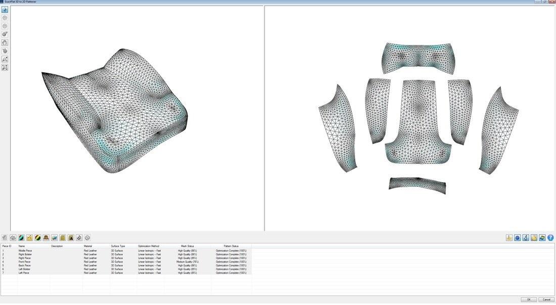 ExactFlat 3D to 2D